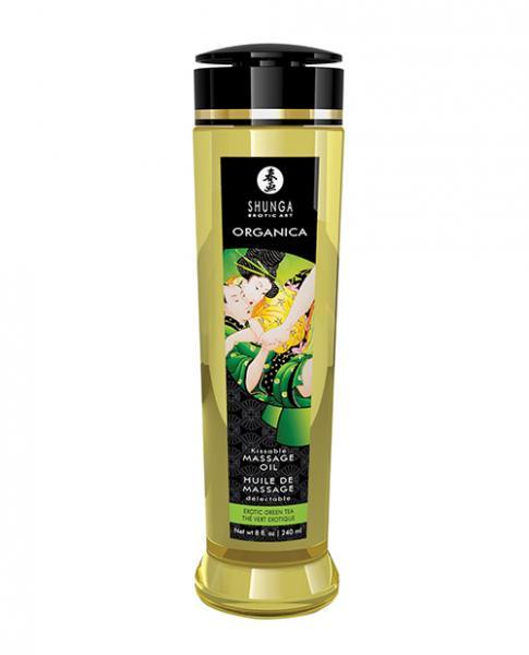 Shunga Organic Kissable Massage Oil - 8.5 Oz Exotic Green Tea
