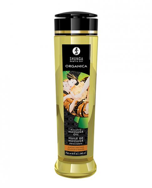 Shunga Organica Kissable Massage Oil - 8 Oz Almond Sweetness