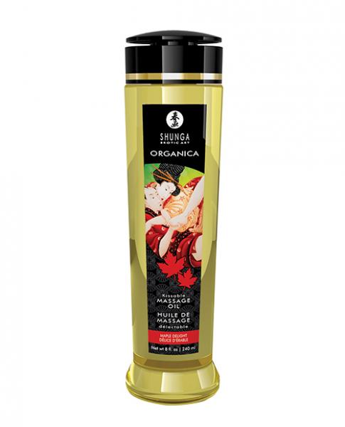 Shunga Organica Kissable Massage Oil - 8 Oz Maple Delight