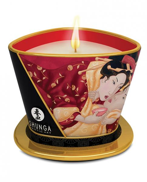 Shunga Massage Candle Romance Strawberry Wine 5.7oz