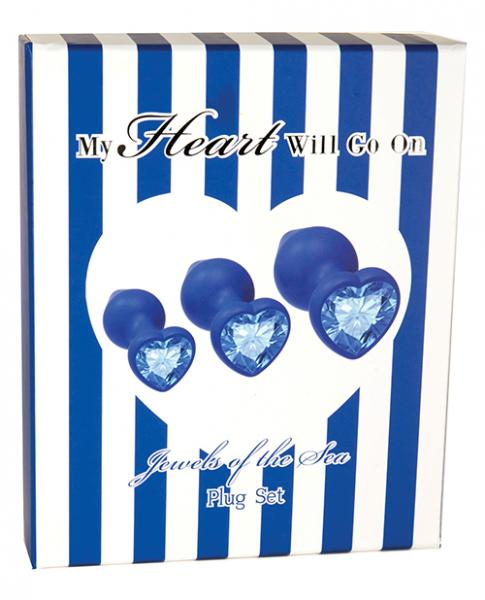 My Heart Will Go On Plug Set 3 Blue Butt Plugs