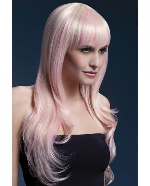 Smiffys Fever Wig Sienna 26 inches Long Blonde Candy
