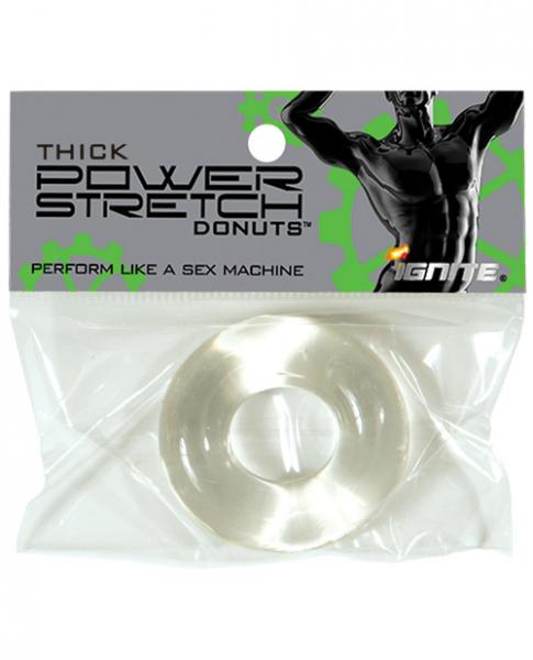 Thick Power Stretch Donut Cock Ring Clear
