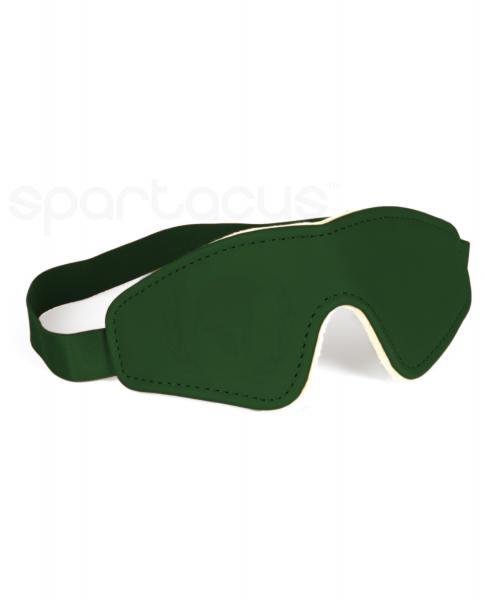 Spartacus Pu Blindfold W/plush Lining - Green