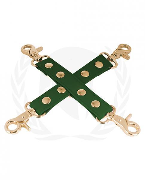 Spartacus Pu Hog Tie W/gold Hardware - Green