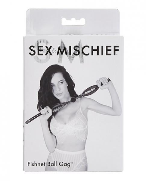 Sex & Mischief Fishnet Ball Gag Black