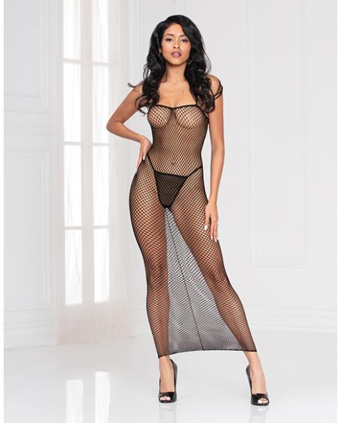 Industrial Net Dress W/spaghetti Straps Black O/s
