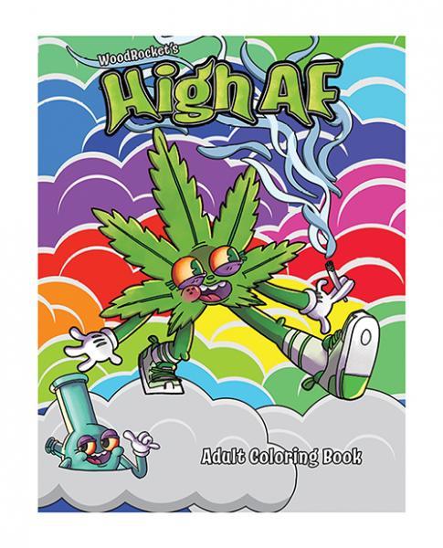 Wood Rocket High Af Coloring Book