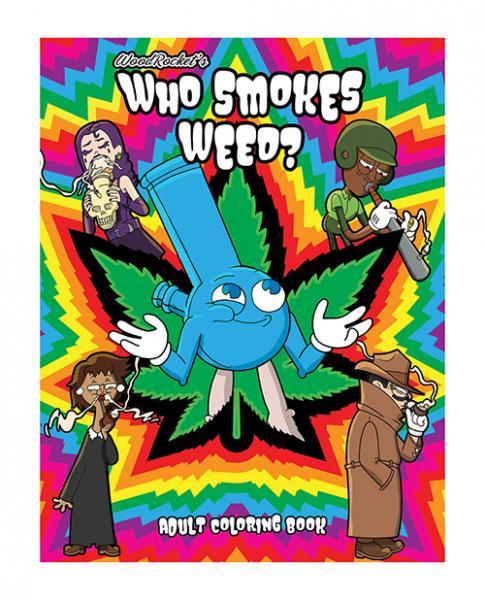 Wood Rocket Who Smokes Weed Coloring Book
