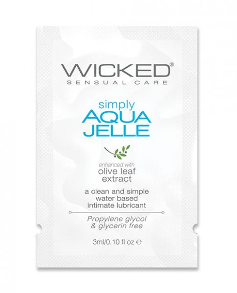 Wicked Simply Aqua Jelle Water Based Lubricant  .1oz