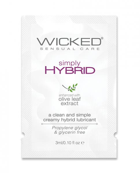 Wicked Sensual Care Simply Hybrid Lubricant - .1 Oz.