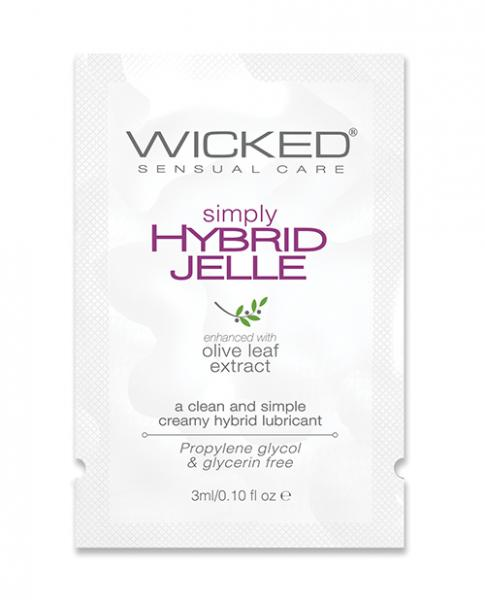 Wicked Sensual Care Simply Hybrid Jelle Lubricant - .1 Oz