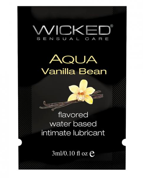 Wicked Aqua Water Based Lubricant Vanilla Bean .1oz