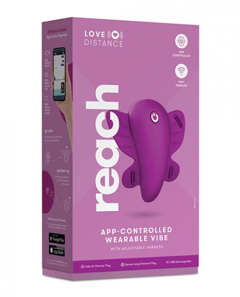 Love Distance Reach App Controlled Wearable Vibe - Rose