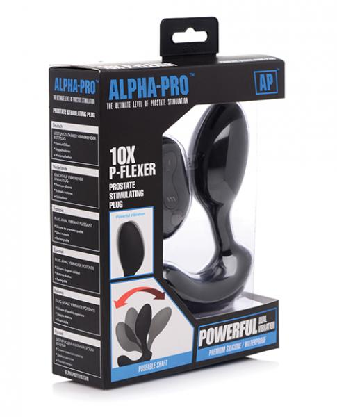 Alpha-pro 10x P-flexer Prostate Massager W/remote