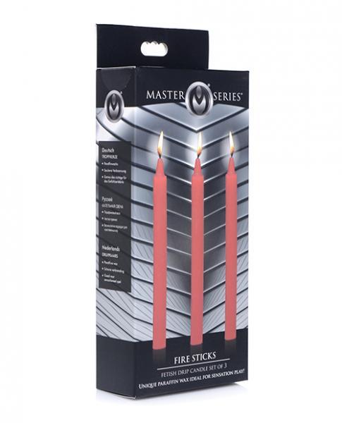 Master Series Fetish Drip Candles - Fire Sticks Set Of 3