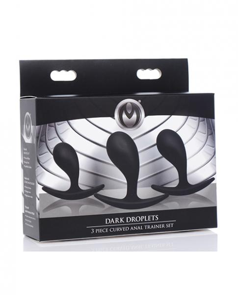 Master Series Dark Curved Anal Trainer - Black 3 Piece Set