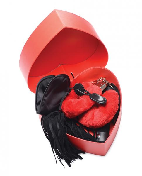 Frisky Passion Fetish Kit W/heart Gift Box - Red