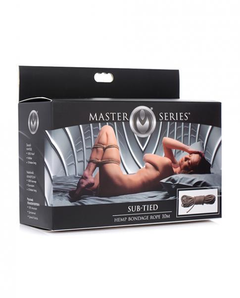 Master Series Sub Tied Hemp Bondage Rope - 10 Mm Tan