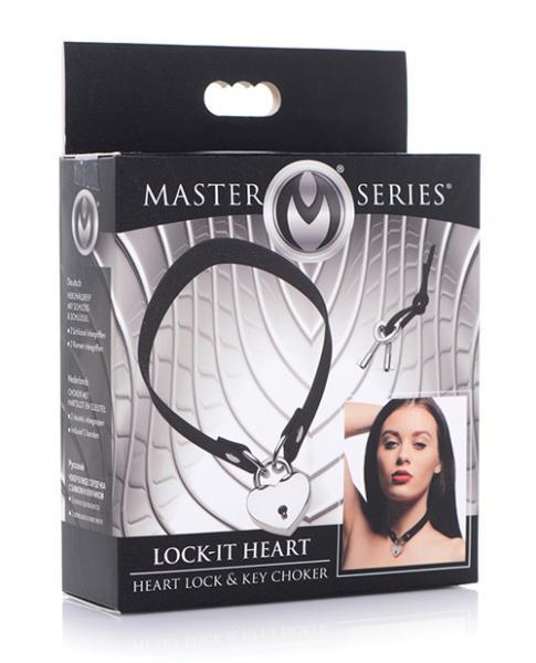 Master Series Lock-it Heart Lock And Key Choker