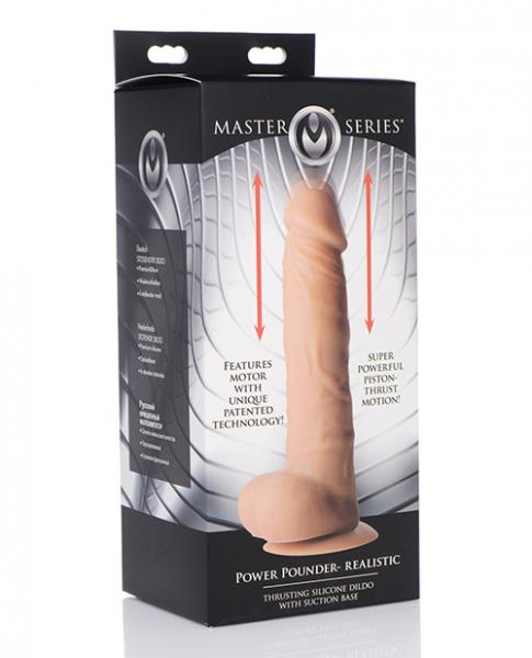 Master Series Power Pounder Realistic Trusting Silicone Dildo - Ivory