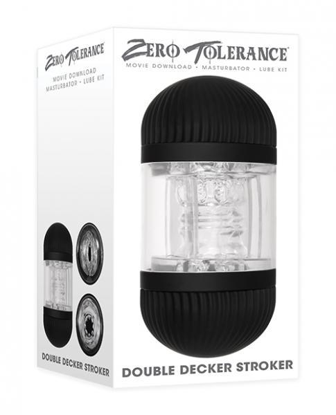Zero Tolerance Double Decker Stroker - Black/clear