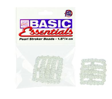 Peal Stroker Beads Small 1.5 Inch - White