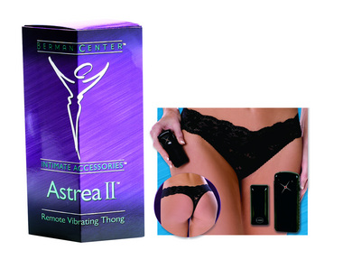 Berman  Astrea ii remote vibrating thong black Sex Toy Product