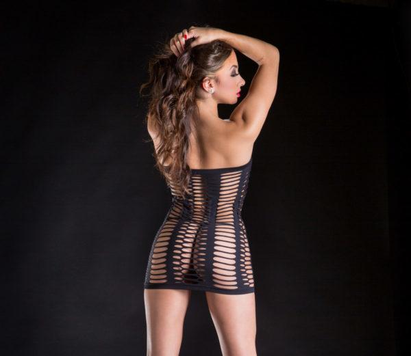 Naughty Girl Tube Dress Black O/S