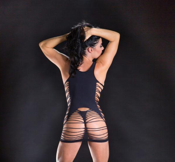 Naughty Girl Spaghetti String Dress O/s (net)