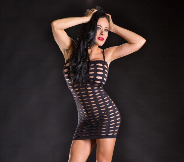 Naughty Girl Spaghetti String Dress Butt Poster O/s (net)