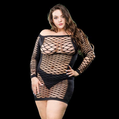 Naughty Girl Long Sleeves Dress Black Q/S
