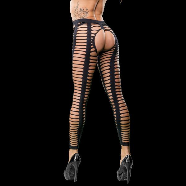 Naughty Girl Sexy Leggings Strap Mesh Black O/S