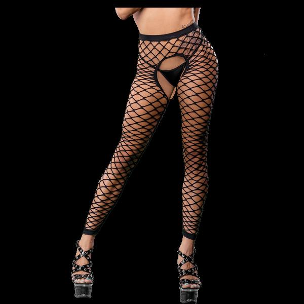 Naughty Girl Mesh Sexy Leggings Black O/S