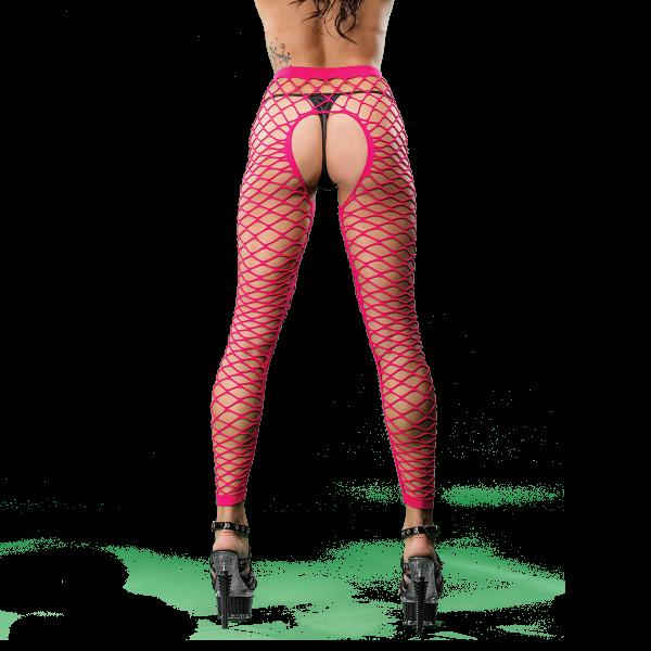 Naughty Girl Mesh Sexy Leggings Pink O/S