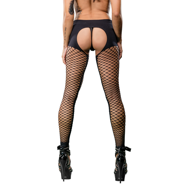 Naughty Girl Mesh Sexy Legging Black O/S