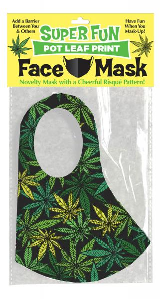 Super Fun Pot Leaf Face Mask