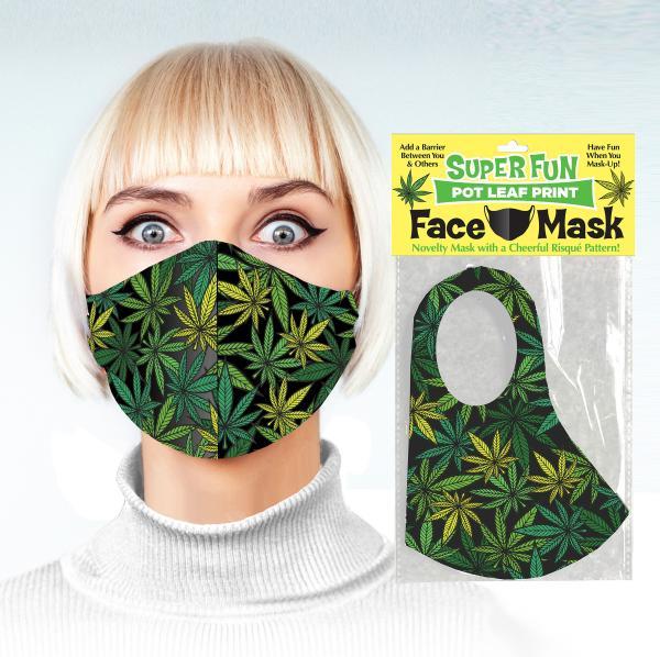 Super Fun Pot Leaf Face Mask