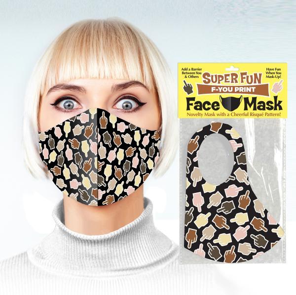 Super Fun F U Finger Face Mask