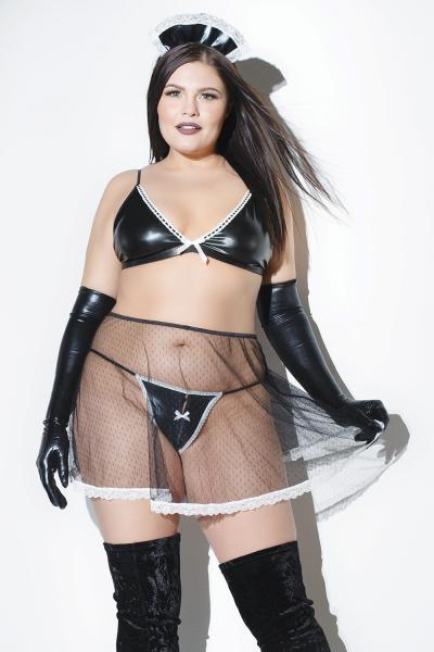 Diva French Maid Babydoll OS/XL