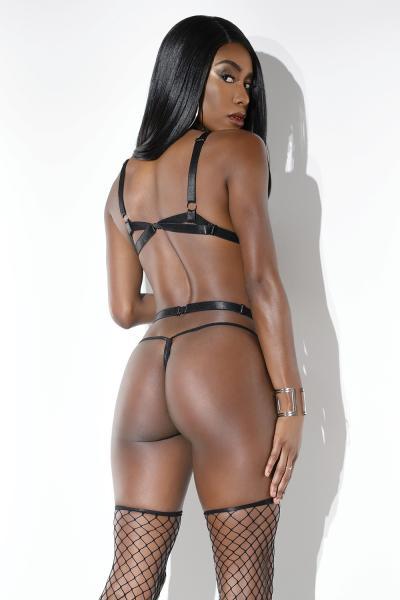 Strappy Body Harness Black O/S