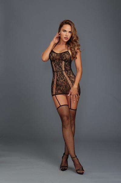Garter Dress Black O/s