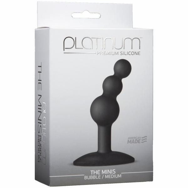 Minis Bubble Medium Black Anal Probe