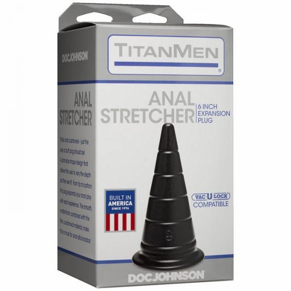 Titanmen Anal Stretcher 6 inches Expansion Plug Black