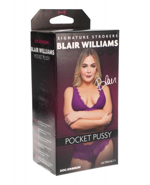 Signature Strokers Blair Williams Ultraskyn Pocket Pussy Vanilla