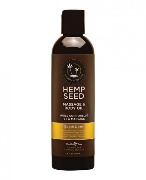 Hemp Seed Massage Oil Beach Daze 8 Oz