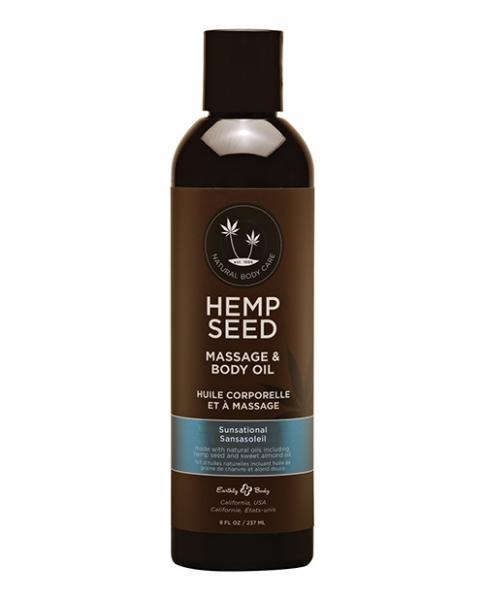 Hemp Seed Massage Oil Sunsational 8 Oz