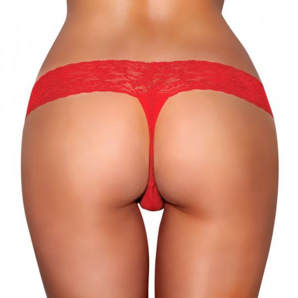 Vibrating Panties Vibe Pocket Red M/L