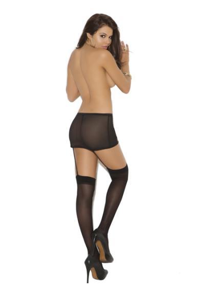 Sheer Thigh High Stockings White O/S
