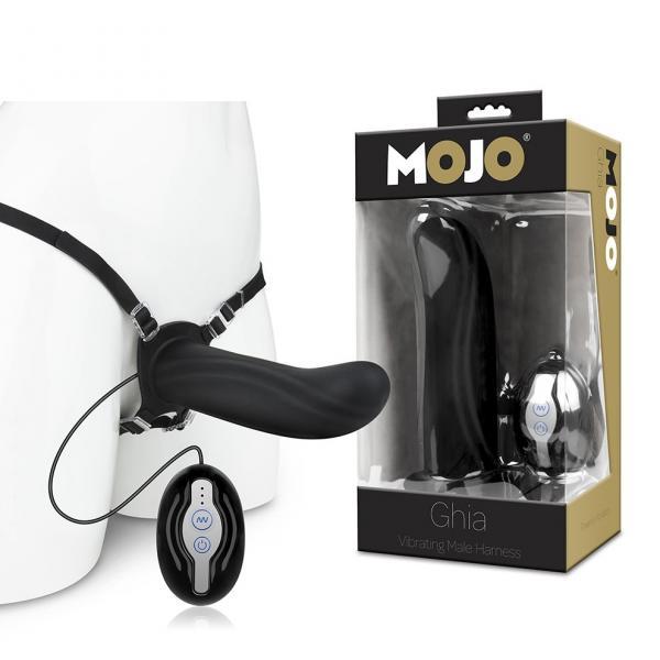 Mojo Ghia Vibrating Male Harness Black